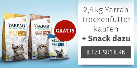 Yarrah Katze 2,4kg Trockenfutter für Katzen kaufen + Snack gratis