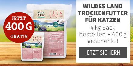 Wildes Land Katze - 4kg Trockenfutter Sack kaufen & 400g derselben Sorte gratis erhalten
