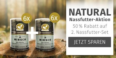 Natural - 50% Rabatt auf 2. Nassfutter-Set derselben Sorte