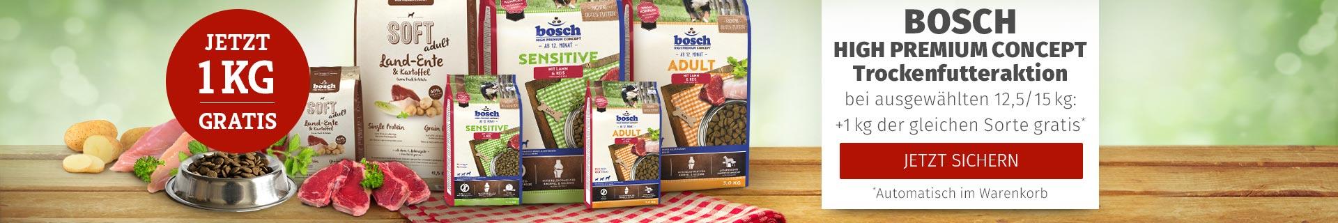 Bosch High Premium Concept Trockenfutteraktion