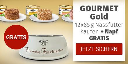 Gourmet Gold 12 x 85g Nassfutter kaufen + Napf gratis