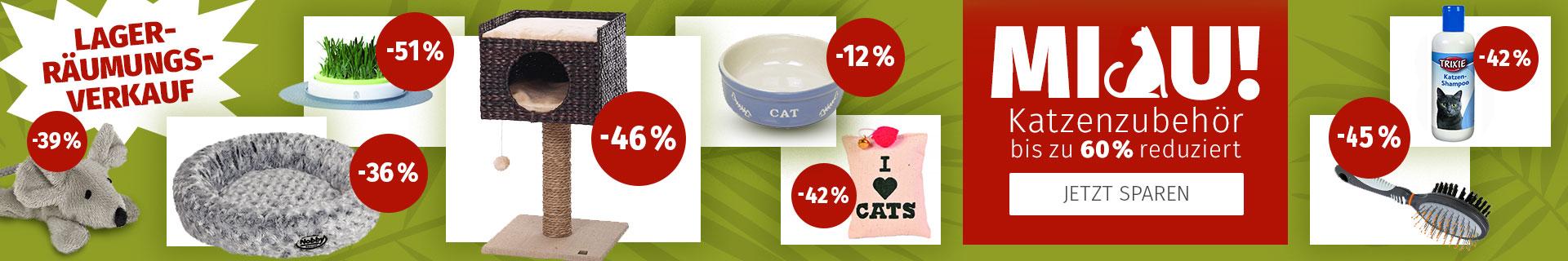 Katzenzubehör bis zu 60% reduziert