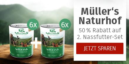 Müller's Naturhof - 50% Rabatt auf 2. Nassfutter-Set derselben Sorte
