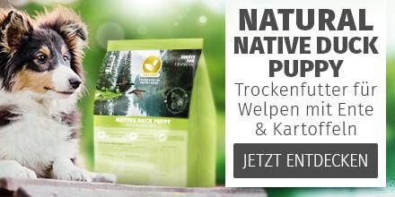 Natural Native Duck Puppy - Trockenfutter für Welpen