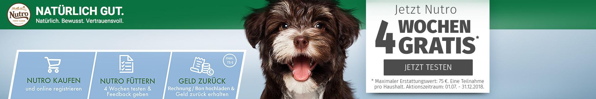Nutro Hundefutter Payback Aktion