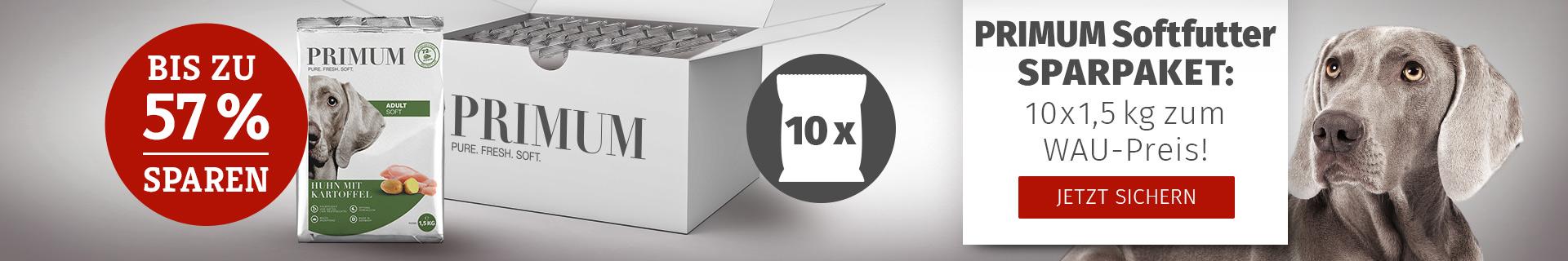 PRIMUM - Softfutter Sparpaket 10x1,5kg zum WAU-Preis
