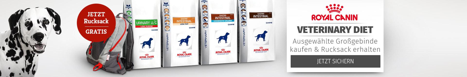 Royal Canin Veterinary Diet Ausgewählte Großgebinde kaufen und Rucksack erhalten
