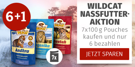 Wildcat Nassfutter Pouch Aktion 6+1 geschenkt