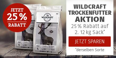 Wildcraft Trockenfutter Aktion - 25% Rabatt auf 2. 12kg Trockenfutter Sack derselben Sorte