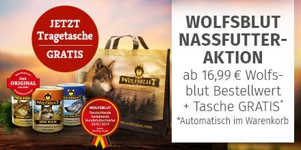 Wolfsblut Nassfutter im wert von 16,99 kaufen + Tragetasche gratis