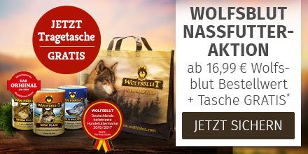 Wolfsblut Nassfutter im Wert von 16,99 Euro kaufen + Tragetasche gratis