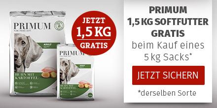 PRIMUM - 5kg Softfutter Sack kaufen + 1,5kg derselben Sorte gratis