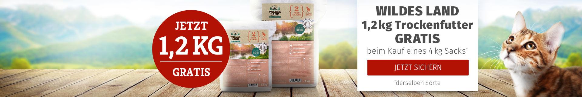 Wildes Land Katze - 4kg Trockenfutter Sack bestellen + 1,2kg derselben Sorte gratis