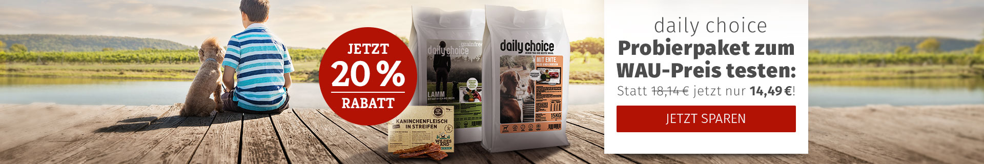 daily choice Aktion - 20% Rabatt auf Probierpaket