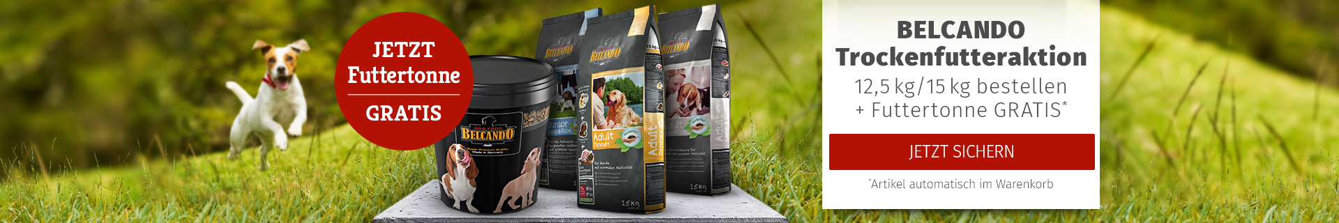 Belcando Aktion 12,5/15kg bestellen + Futtertonne gratis