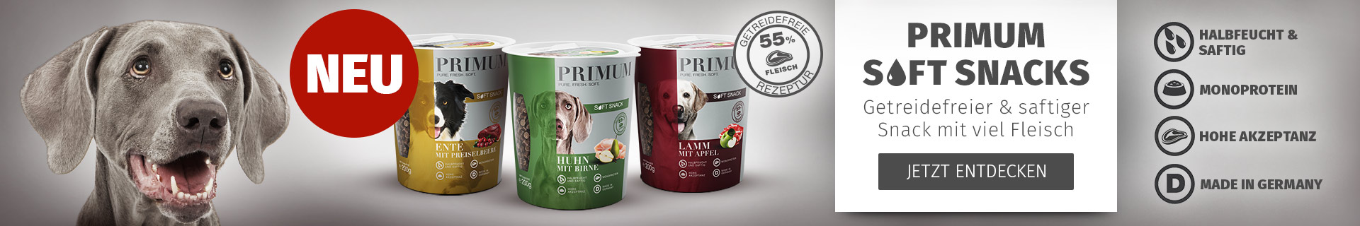 PRIMUM - Jetzt neu: Soft Snacks für Hunde