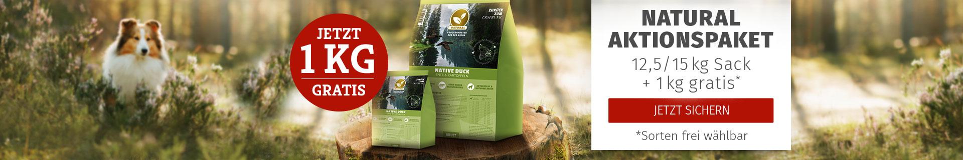 Natural Trockenfutter Aktionspaket - 12,5/15kg Sack + 1,5kg gratis