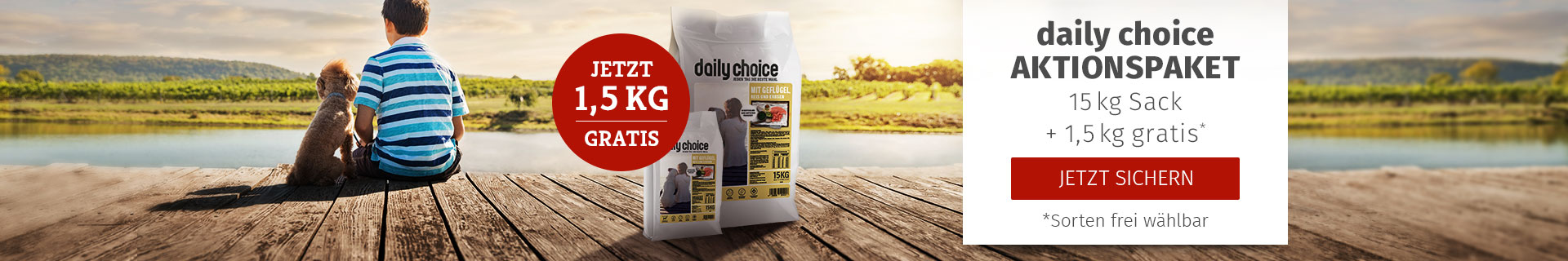 daily coice Trockenfutter Aktionspaket - 15kg + 1,5kg gratis