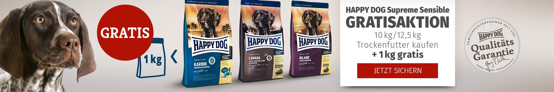 Happy Dog Supreme Sensible Sparaktion 10kg/12,5kg bestellen + 1kg gratis