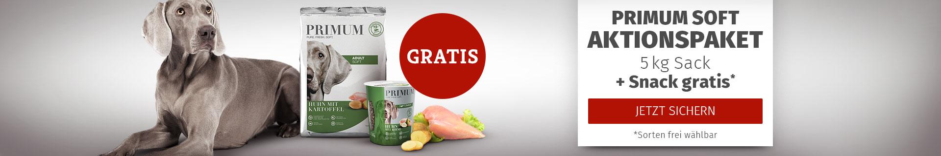 PRIMUM - Aktionspaket: 5kg Softfutter Sack bestellen + Soft Snack gratis erhalten