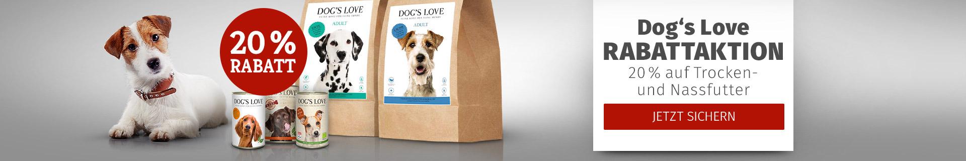 Dog'S Love Rabattaktion 20% auf Trocken- und Nassfutter