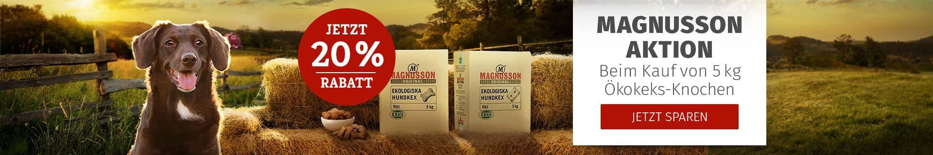 Magnuson Aktion bei Kauf von 5kg Ökokeks Knochen