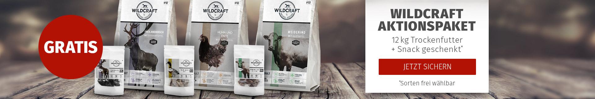 Wildcraft Aktion: 12kg Sack kaufen und ein Snack gratis erhalten