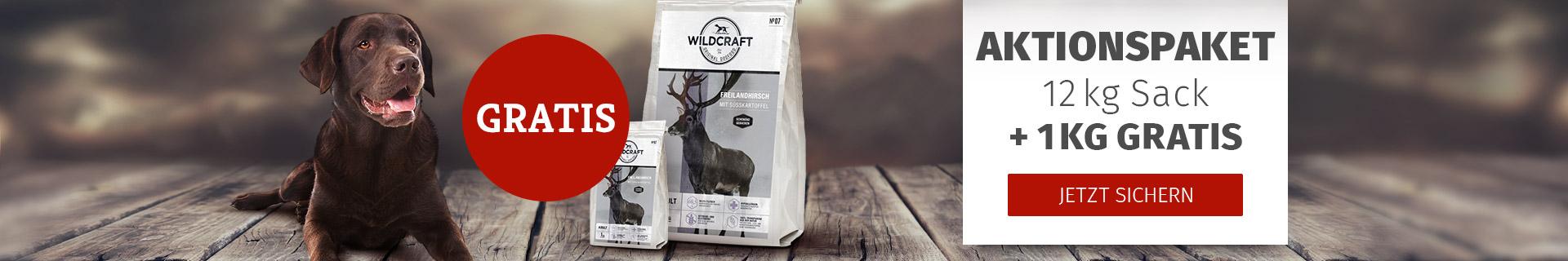 Trockenfutteraktion Wildcraft 12kg+1kg gratis