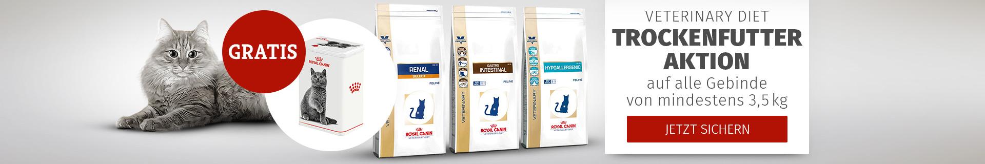 Royal Canin Veterinary Diet Futteraktion auf alle Gebinde von mind. 3,5kg