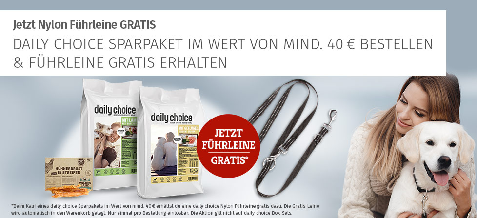 daily choice Aktion - Nylon Führleine gratis