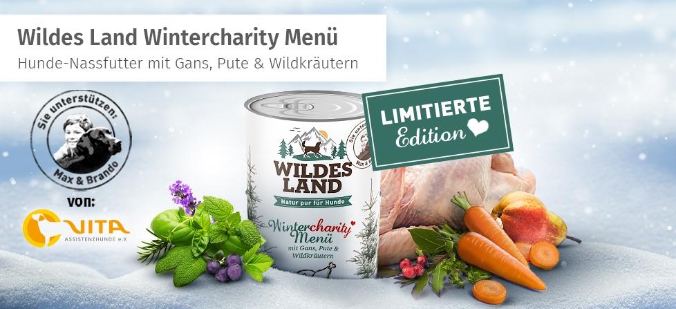 Wildes Land Wintercharity Menü für Hunde