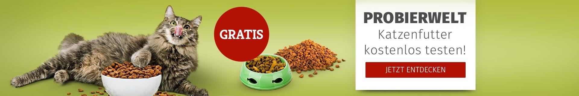Probierwelt für Katze - Futter kostenlos testen