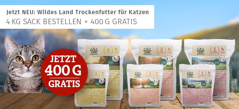 Wildes Land Trockenfutter Aktion - neu+400g gratis