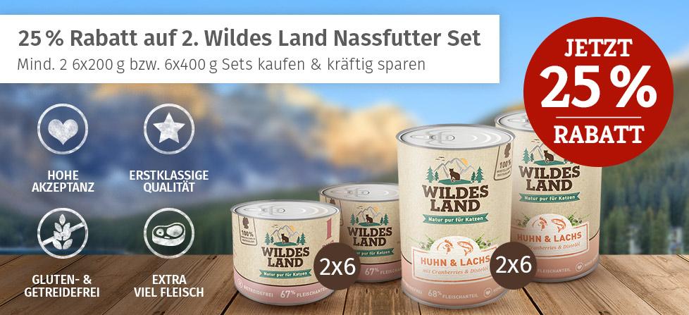 Wildes Land Nassfutter Aktion - 25% Rabatt auf 2. Set