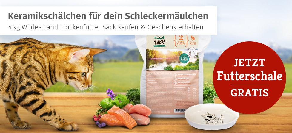 Wildes Land Trockenfutter Aktion Katze - Futterschale gratis erhalten