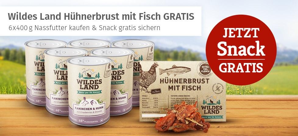 Wildes Land Nassfutter Aktion Katze - Snack gratis erhalten